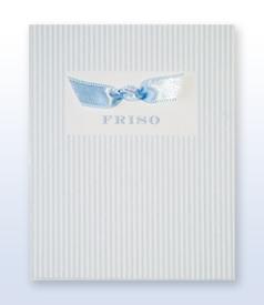 Friso Rooduijn Classic 300 grams geboortekaartje met satijn vlinderstrikje binnenzijde voorvertoon