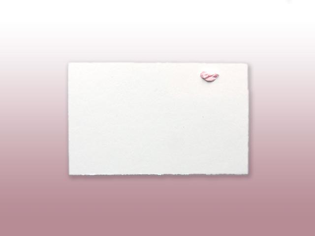 Aimée Oud Hollands wit geboortekaartje met los naamkaartje inclusief vlinderstrikje achterzijde
