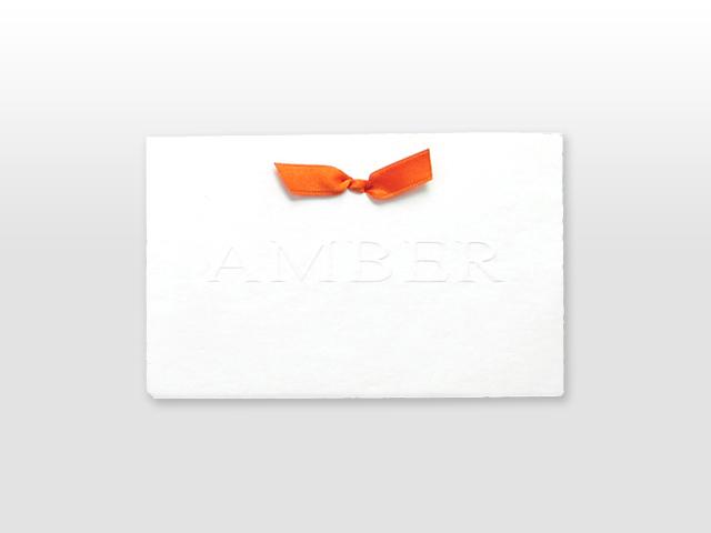 Amber Oud Hollands wit kaartje met strikje
