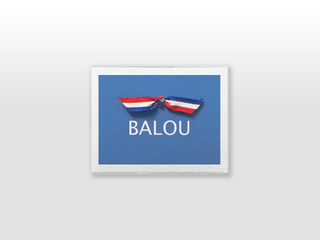 Balou Oud Hollands wit kaartje met strikje