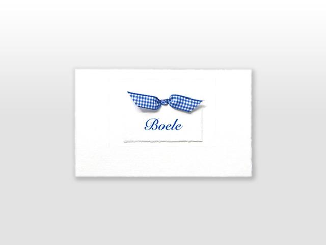Boele Oud Hollands wit geboortekaartje met los naamkaartje inclusief vlinderstrikje
