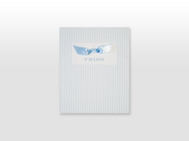 Friso Rooduijn Classic 300 grams geboortekaartje met satijn vlinderstrikje