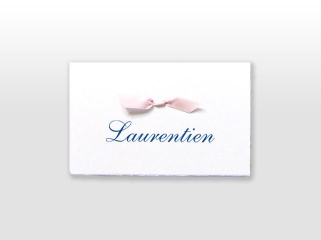 Laurentien Oud Hollands wit kaartje met strikje